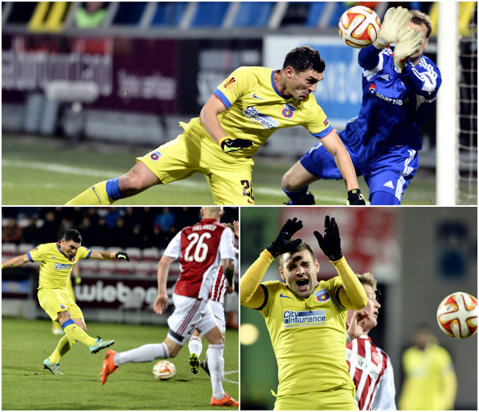 A lovit cu stângul, a dat şi cu dreptul, şi-a folosit şi capul, dar ghinionul a purtat numele lui Keşeru. Aalborg - Steaua 1-0, iar Gâlcă are nevoie de un miracol în ultima etapă