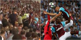VIDEO Scene incredibile pe stadionul lui West Ham, în timpul meciului cu Astra. Un suporter a fost bătut cu bestialitate sub privirile stewarzilor. Daily Mail scrie că bărbatul agresat ar fi român