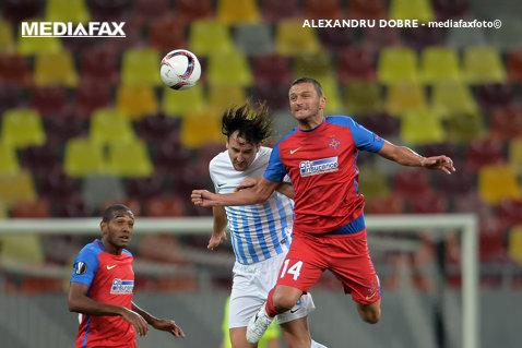 Descătuşarea lui GOLubovic! FOTO Reacţia atacantului după primul gol la Steaua în 12 meciuri şi 850 de minute