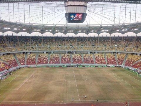 FOTO | AŞA arăta gazonul înainte de meciul cu Sporting Lisabona. Cum arată acum suprafaţa de joc de pe Arena Naţională