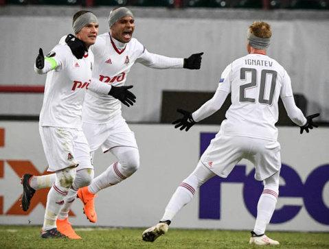 Rusia are două echipe calificate în optimile Ligii Europa. Nice a fost eliminată de Lokomotiv Moscova