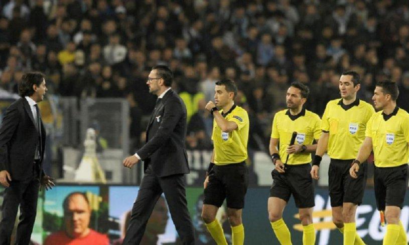 """Haţegan şi brigada lui, făcuţi praf după Lazio - Salzburg. Cel mai bun arbitru român, notat cu 4 într-o seară plină cu evenimente. Ce i se reproşează: """"Haţegan-şoc! A pierdut controlul"""""""