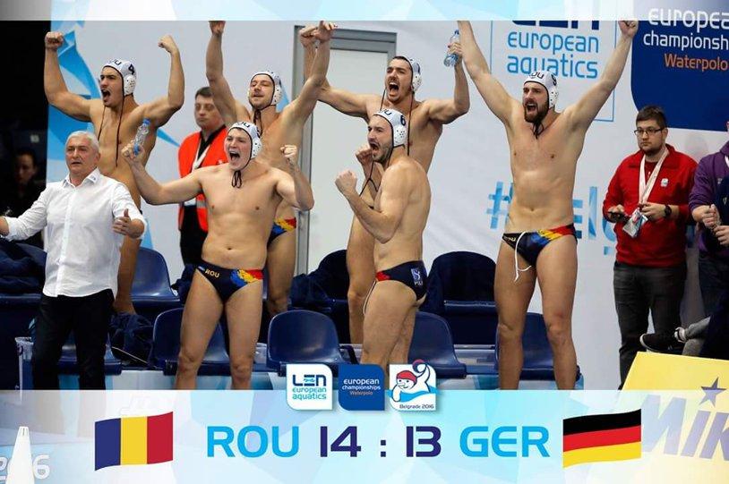 Europeanul de polo / Victorie la penaltyuri cu Germania, Marius Ţic – eroul naţionalei României. Tricolorii sunt aproape de turneul preolimpic