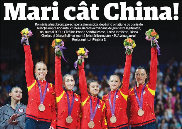 România, BRONZ în proba pe echipe la gimnastică!** Transmite-le un mesaj de felicitare fetelor lui Belu şi Bitang! SUA e campioană olimpică