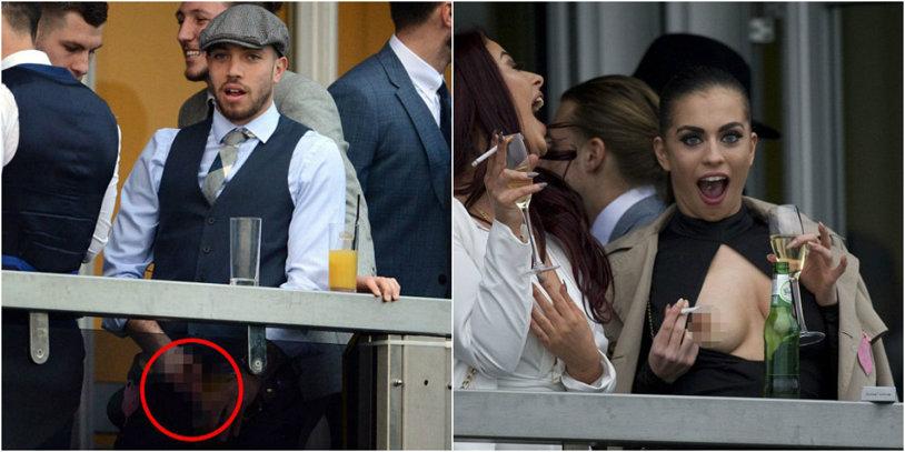 Spectacol grotesc oferit în public de doi fotbalişti din Anglia şi iubitele lor! FOTO | Ce au putut face în tribuna VIP
