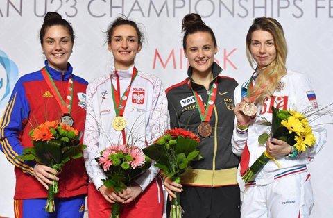 Amalia Tătăran – argint, Iulian Teodosiu – bronz la Europenele U23 de scrimă de la Minsk