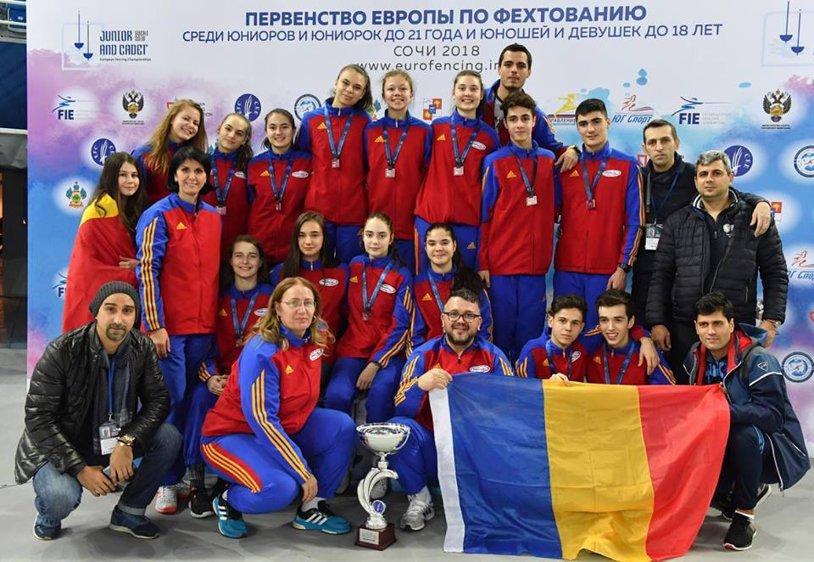 Zi de excepţie la Soci, pentru scrima tricoloră! România a cucerit trei medalii de bronz la Campionatul European de cadeţi, în probele pe echipe