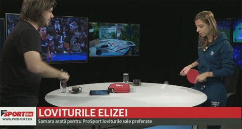 Loviturile Elizei. VIDEO | Samara a acceptat provocarea ProSport LIVE: meci de tenis de masă în studioul emisiunii