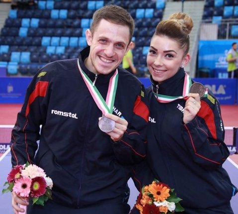 Mesajul lui Ovidiu Ionescu, medaliat cu bronz la C.E. de tenis de masă, alături de Bernadette Szocs