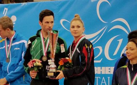 GALERIE FOTO cu Dana Dodean şi Joao Monteiro, campioni europeni la dublu mixt