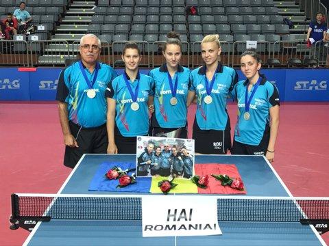 Tenis de masă | De două ori pe podium la Campionatele Europene de Juniori: România a câştigat argintul cu echipa feminină şi bronzul la băieţi