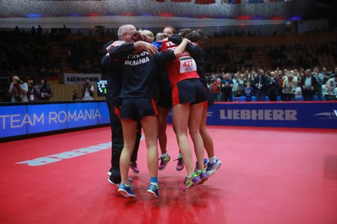 Reginele Europei sunt românce! Aur la C.E. de tenis de masă după ce Samara, Dodean şi Szocs au bătut Germania cu trei chinezoaice în lot! Meci de infarct câştigat de Dana în decisiv | VIDEO