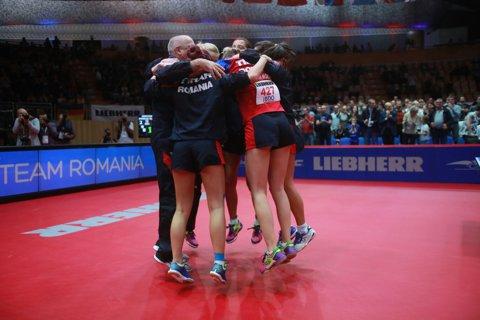 """""""Am aşteptat 12 ani acest aur european!"""". Secretul succesului din finala Europeanul de tenis de masă. România a învins Germania, scor 3-2"""