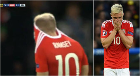 Ce gest stupid! Ramsey a fost omul meciului cu Belgia, dar a suferit o dramă! FOTO | Momentul în care şi-a dat seama că va RATA semifinala cu Portugalia