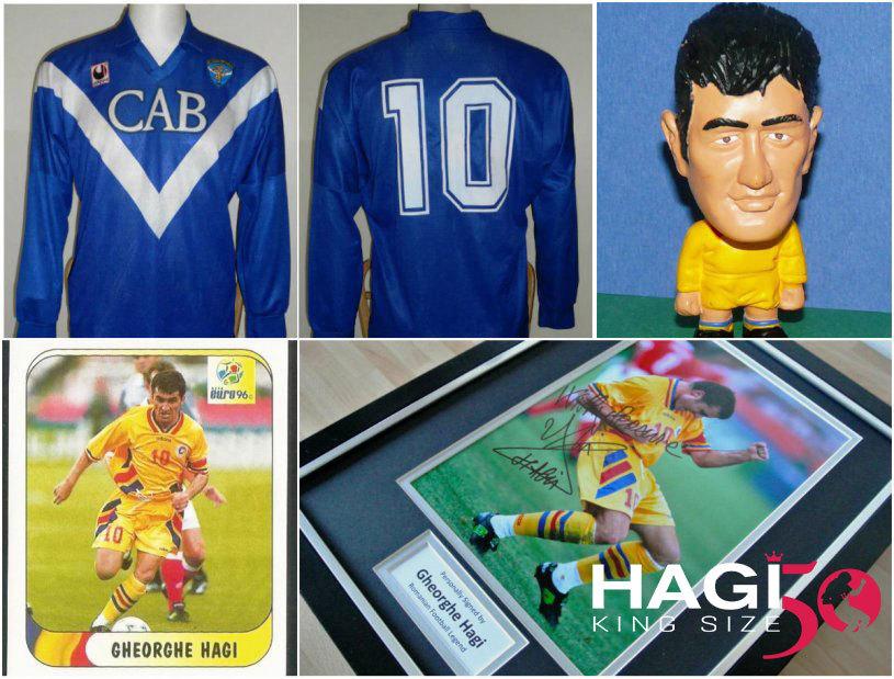 """Afacerea cu obiecte de colecţie """"marca Hagi"""": articolele purtate de """"Rege"""" îşi măresc valoarea în timp. Casillas şi Copos, doi dintre colecţionarii de tricouri ale lui Hagi"""