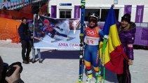 JO de iarnă. Ania Caill, un zâmbet pe pârtia olimpică de schi alpin de la PyeongChang. Pe ce loc a terminat sportiva la SuperG, în proba câştigată surprinzător de cehoaica Ledecka. Întâlnire între Mihai Covaliu şi Thomas Bach