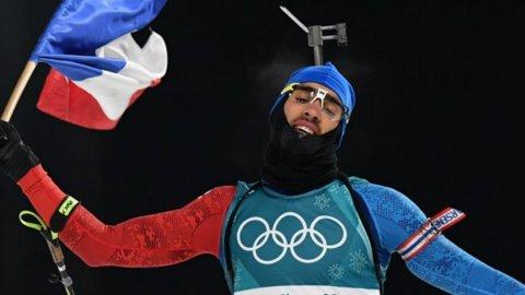 Titlu olimpic decis la centimetru! Martin Fourcade a devenit dublu campion la PyeongChang, după un plonjon la finalul probei cu start în bloc