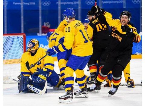 Surpriză de proporţii în turneul olimpic de hochei: Suedia a fost eliminată de Germania. Cum arată cele două semifinale la PyeongChang