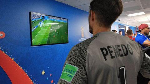 Reacţia lui Penedo la finalul primului meci din carieră la Cupa Mondială