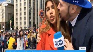 """""""Agresorul"""" jurnalistei columbiene a fost identificat. A sărutat-o pe obraz şi i-a atins sânul, iar acum şi-a cerut scuze: """"Ceea ce s-a întâmplat este inacceptabil şi lipsit de respect"""""""