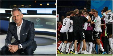 """Nemţii l-au făcut pe marele Lineker să modifice unul dintre cele mai cunoscute citate din istorie: """"Fotbalul e un joc simplu. 22 de oameni urmăresc o minge pentru 92 de minute şi germanii au un om eliminat..."""""""