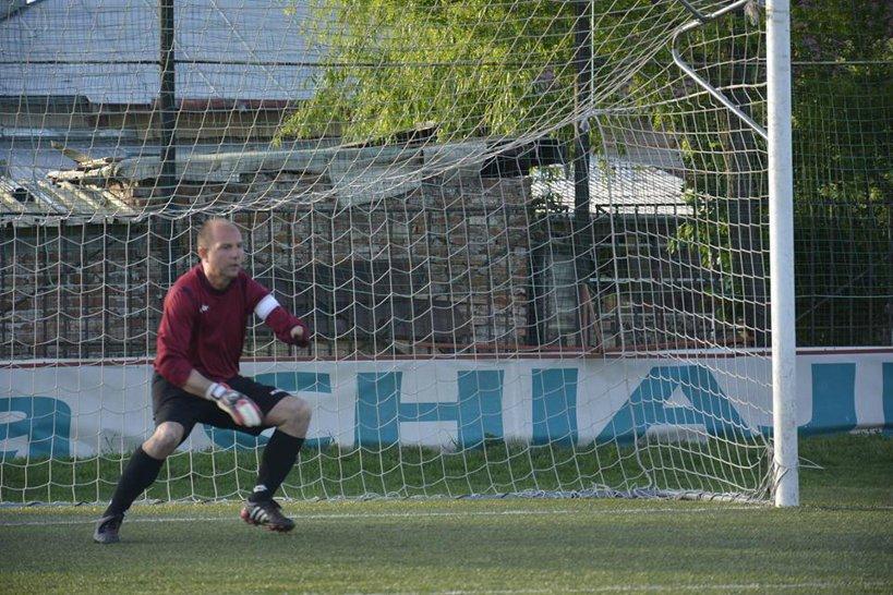 Tudorel Mihăilescu în poarta ASF Frăţia. FOTO: contul de Facebook al lui Tudorel Mihăilescu