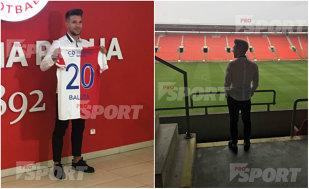 EXCLUSIV | Băluţă s-a înţeles cu noua echipă! Cu cine a semnat decarul Craiovei. Primele imagini cu atacantul în tricoul noului club: ce număr va purta