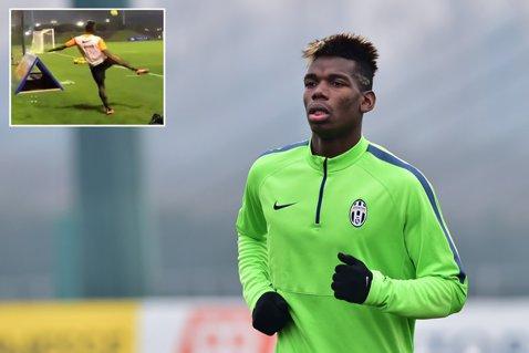 VIDEO | Execuţie de senzaţie reuşită de Pogba la antrenamentele lui Juventus. A trimis mingea în plasă din spatele porţii