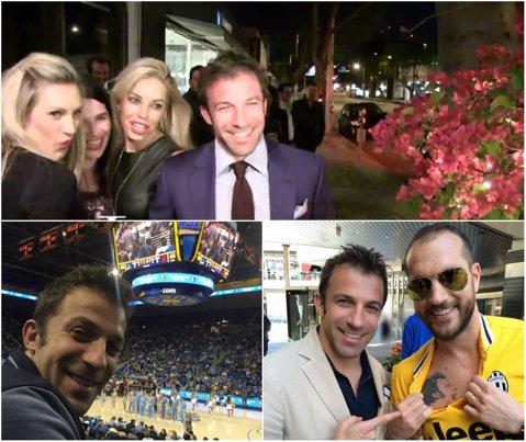 """Del Piero, surprins de paparazzi în Los Angeles alături de trei domnişoare. """"E bunicel fotbalul din America, poate voi juca aici"""""""