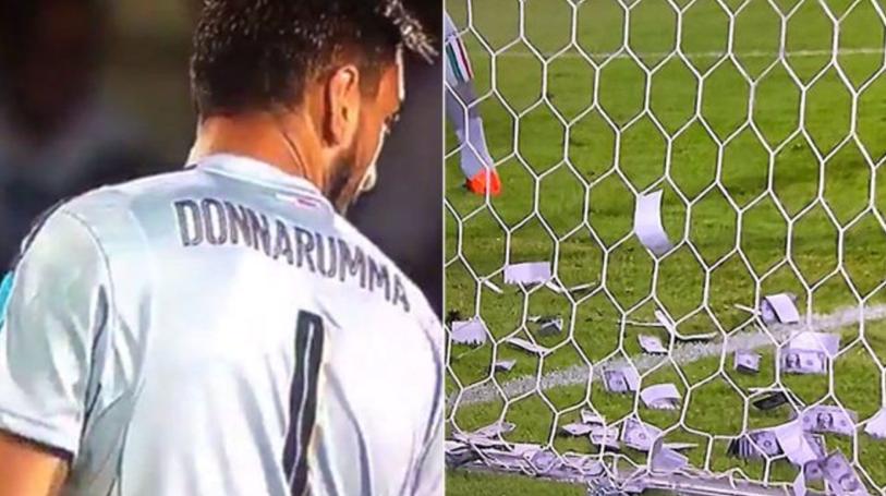Reacţia lui Donnarumma face toţi banii, după ce fanii au aruncat cu dolari în el | VIDEO Cum a fost surprins imediat după meci
