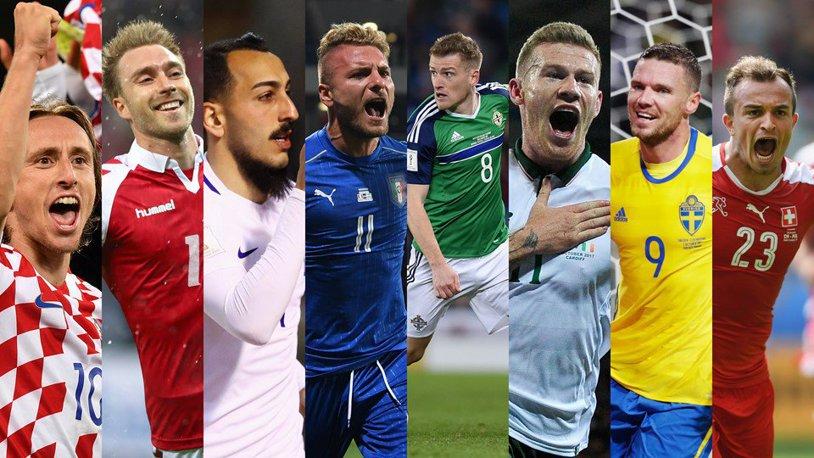Baraj CM 2018   Ultima strigare pentru Rusia: Irlanda - Danemarca 1-5. Eriksen îşi duce naţionala la Mondiale. Elveţia, Croaţia şi Suedia, celelalte echipe calificate