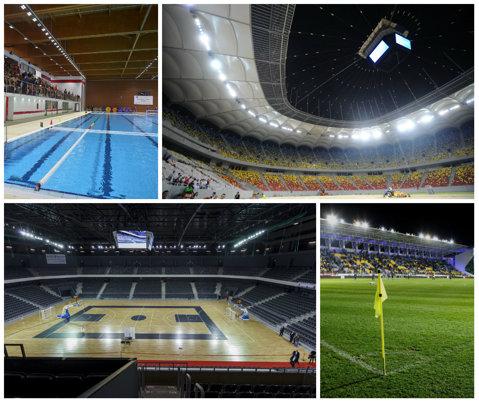 425 de milioane de euro cheltuiţi pentru 17 baze sportive decente. Cele mai importante arene din România care încearcă să schimbe senzaţia de respingere din infrastructura sportivă