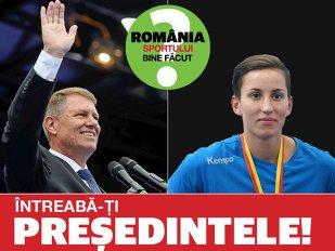 """Vom avea România sportului bine făcut? Campionii îşi întreabă preşedintele. Campioana mondială Cristina Laslo încearcă să-i atragă atenţia preşedintelui către cei mici: """"Aveţi în program şi un proiect pentru aducerea copiilor la sport?"""""""