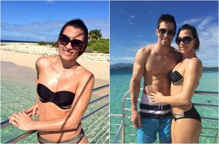 FOTO | Cătălina Ponor, sexy la plajă în Puerto Rico cu iubitul ei, Tommy Ramos