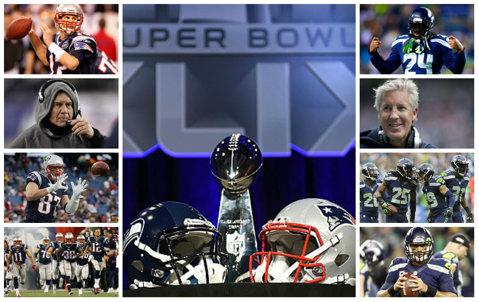 Cel mai echilibrat Super Bowl din istorie? Tot ce trebuie să ştii despre finala NFL de luni dimineaţă: De ce e Patriots favorită la casele de pariuri, ce accidentări are Seattle şi cum poate câştiga Seahawks al doilea Super Bowl consecutiv