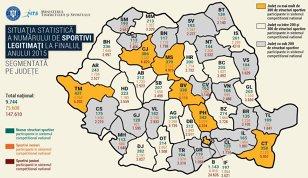 GRAFIC | Realitatea crudă a sportului românesc: mai avem doar 80.000 de legitimaţi! Cum s-a redus drastic într-un singur an numărul de sportivi