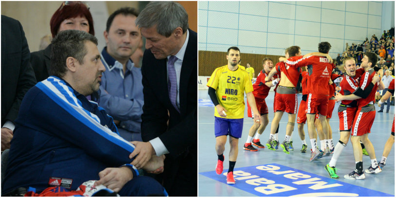 Handbalul românesc în era PR-ului a la Caragiale: ori toţi să muriţi, ori toţi să scăpăm. Ubicuu după succesul fetelor, preşedintele Dedu a dispărut din peisaj de la eşecul băieţilor