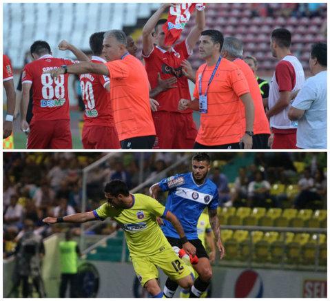 Suferinţa Stelei continuă. Viitorul - Steaua 0-1. În 9 oameni, puştii lui Hagi au hărţuit campioana. Ţîru şi Buzbuchi au fost eliminaţi. Prima victorie după 3 meciuri fără succes. Dinamo - FC Braşov 2-1