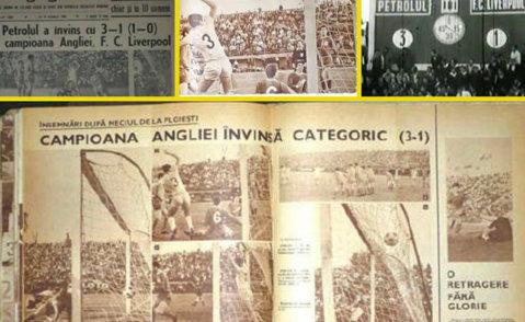 Petrolul a celebrat 48 de ani de la victoria din meciul cu Liverpool