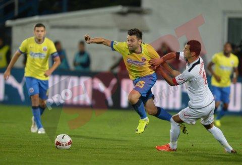 Ghinion teribil pentru Steaua: trei schimbări în primele 25 de de minute. Rusescu a părăsit terenul la Târgu Mureş deşi intrase abia de patru minute