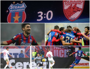"""H3ll0ween! Derby de groază pentru """"câini"""". Steaua - Dinamo 3-0. Campioana, fără înfrângere în ultimele 10 meciuri cu marea rivală"""