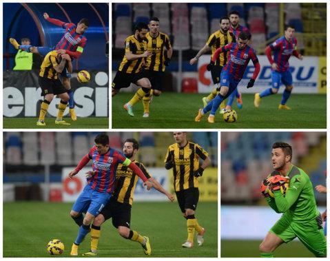 Steaua - FC Braşov 2-0. În Ghencea, fotbalul s-a căutat cu telecomanda