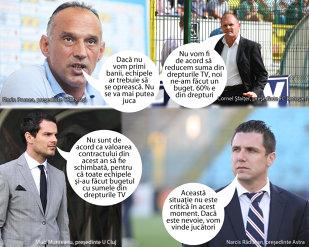 Cluburile din Liga 1 încă merg pe mâna lui Iorgulescu. Soluţiile de avarie pregătite de conducători dacă nu vor intra banii din drepturile TV. Apar semne că s-ar accepta şi un contract mai mic