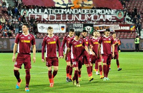 Gruparea CFR Cluj, sancţionată cu 6.000 de lei pentru neplata datoriilor către cinci foşti jucători