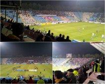 FOTO | Mesajele afişate de fanii Stelei la meciul cu Rapid! Becali şi CSA, principalele ţinte