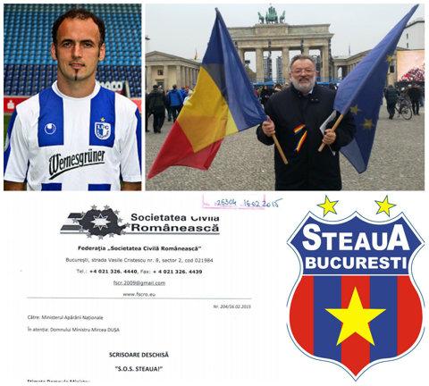 """EXCLUSIV  """"S.O.S Steaua!"""" – scrisoarea care a ajuns pe masa preşedintelui Iohannis şi a ministrului Duşa. Tatăl adoptiv al fotbalistului Răcănel s-a ocupat de aceste demersuri"""