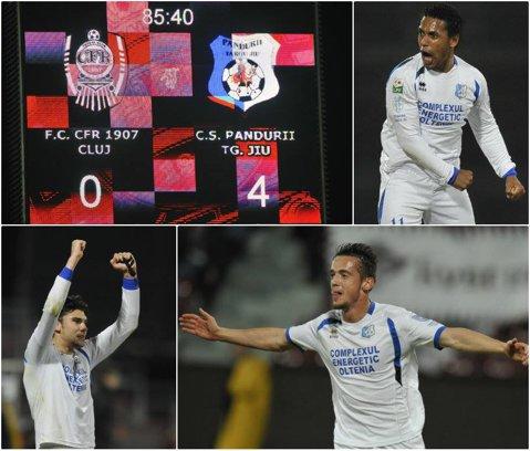 FC Braşov - Astra 1-1. Cristi Ganea a deschis scorul, Tembo a egalat cu un şut superb. Braşovenii au terminat partida cu doi oameni mai puţin. Gorjenii au făcut show în Gruia: CFR Cluj - Pandurii 0-4