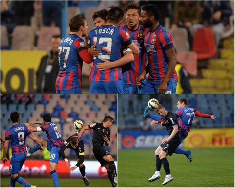 Steaua – Viitorul 4-1. Rusescu, Tănase şi Ţucudean au rezolvat meciul pe final. Iancu a ratat un penalty. Puţanu a fost eliminat