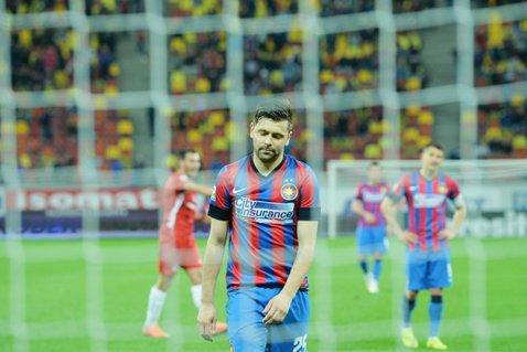 Seară neagră pentru Steaua! O nouă veste proastă după înfrângerea cu Oţelul: s-a rupt şi Rusescu! Vârful a suferit o fractură de os zigomatic şi de maxilar