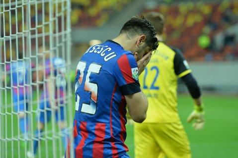 """VIDEO   Întrebare pentru Rusescu. De ce a bătut """"sus"""" penalty-ul cu Oţelul? Vezi cum trage de obicei atacantul din astfel de situaţii. Dinu Gheorghe: """"Baţi aşa la 2-0, 3-0, nu la 1-2, în ultimul minut"""""""